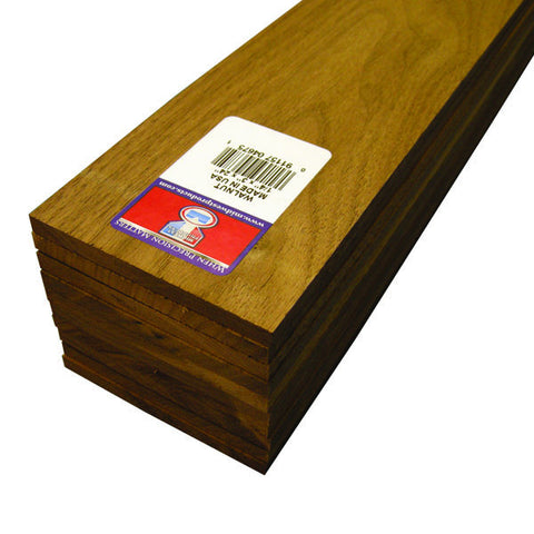 1/4 X 3 X 24 Walnut Sheets-SKU 4675W