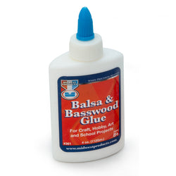 Balsa and Basswood Glue - 4 oz.-SKU 361
