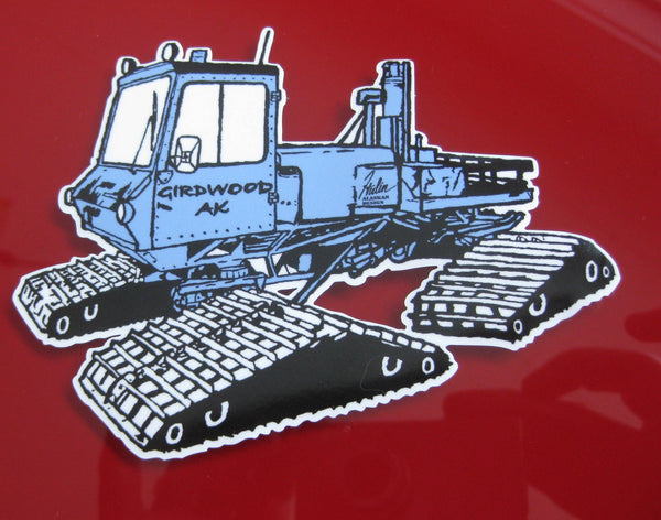 Girdwood Snowcat Stickers