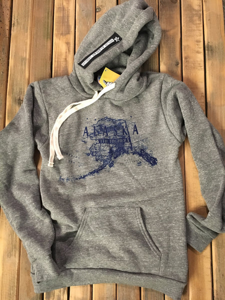 The higher 1 grey pullover hoodie