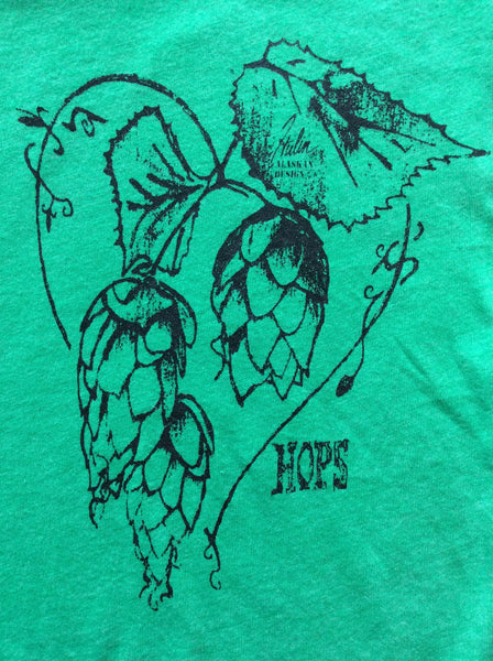 hops love women's green scoop