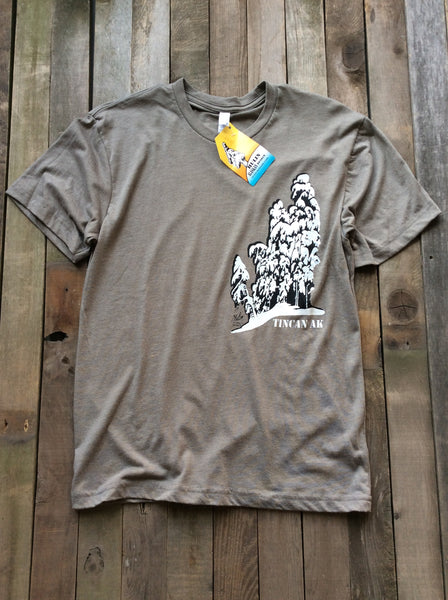 Tincan AK tees in grey
