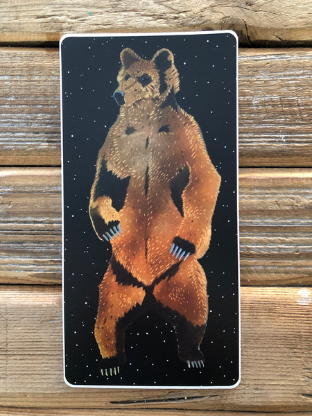 Starry sky brown bear