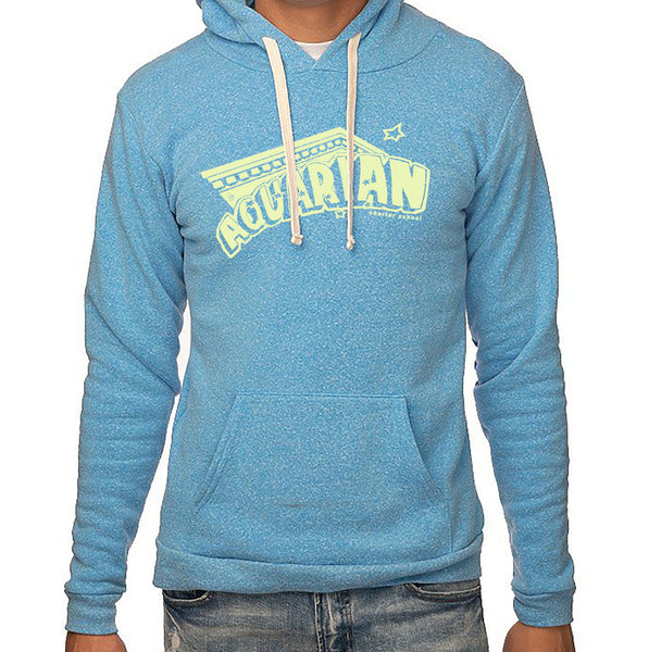 Aquarian 20/21 Baby blue and light yellow adult hoodies