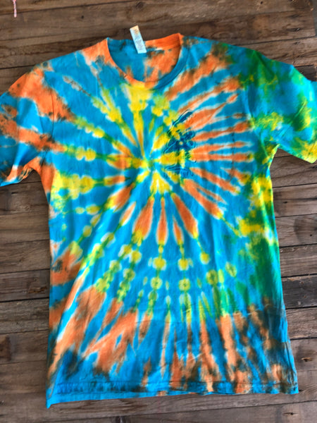Tie dye tees by Don