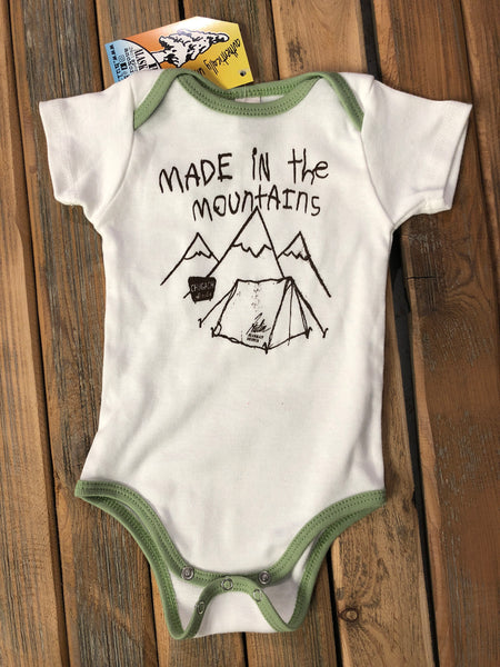 Made in the mountains onesie