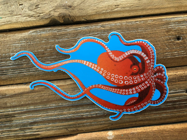Giant Pacific octopus sticker