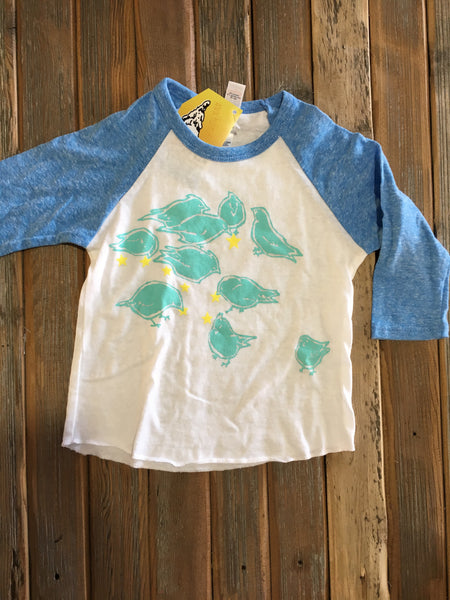Birds feeding on stars toddler3/4 sleeve shirt