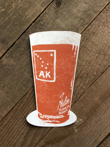 AK pint stickers