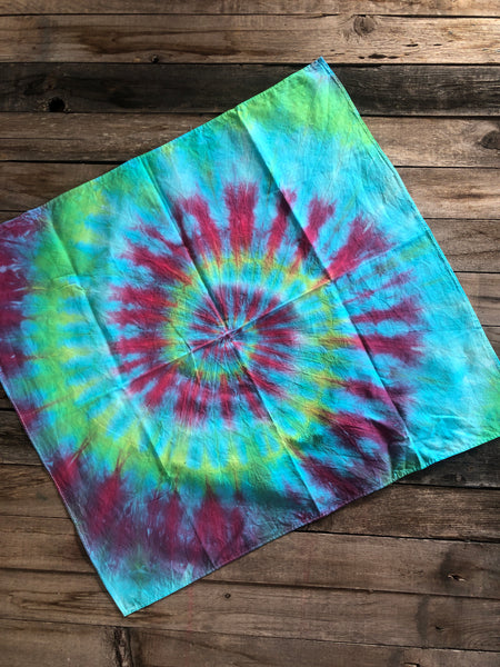"""Dawn of tie dye"" bandannas"