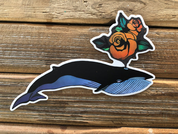 Blue Whale rose spout stickers