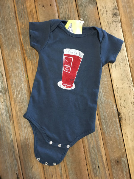 Alaskan 1-2 pint onesie (dusty blue color)
