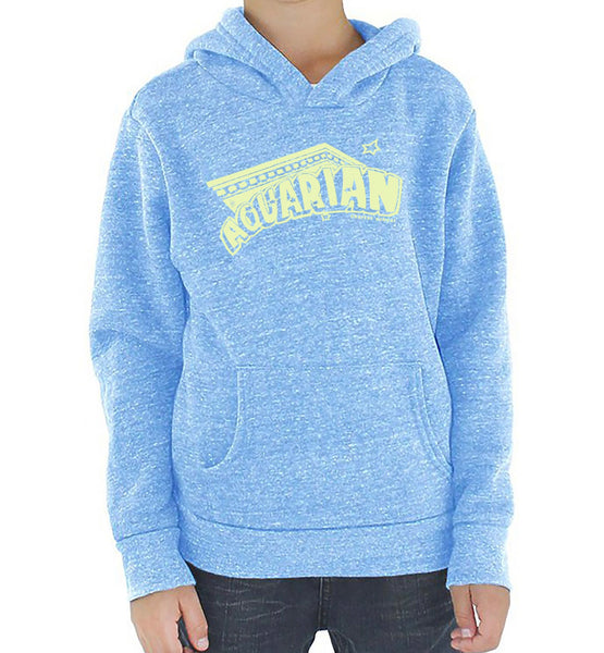 Aquarian 20/21 kids baby blue and light yellow hoodies