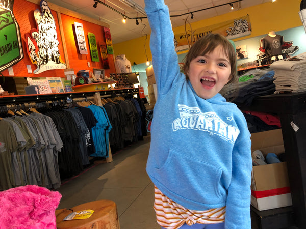 Aquarian kids light blue hoodies