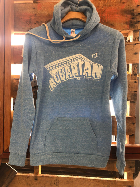 Aquarian Charter School light blue adult hoodies