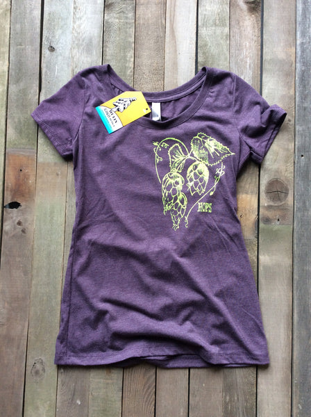 hops love women's purple scoop