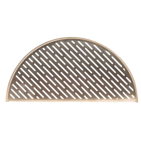 Product shot of the Classic Joe® Half SS Moon Cooking Grate (Fish & Veg)