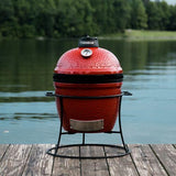 Kamado Joe Jr. portable griller lifestyle on lake