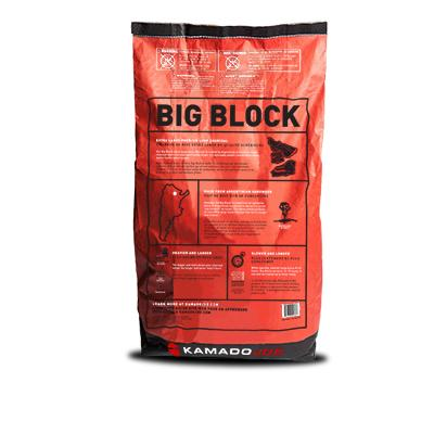 Product shot of the back of the Big Block XL Lump Charcoal