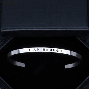 Inspirational I Am Enough Bracelet