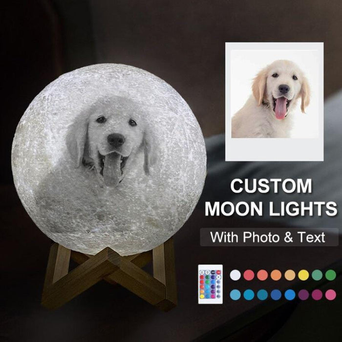 Customized Moon Lamp 3D Printing | 16 Colors