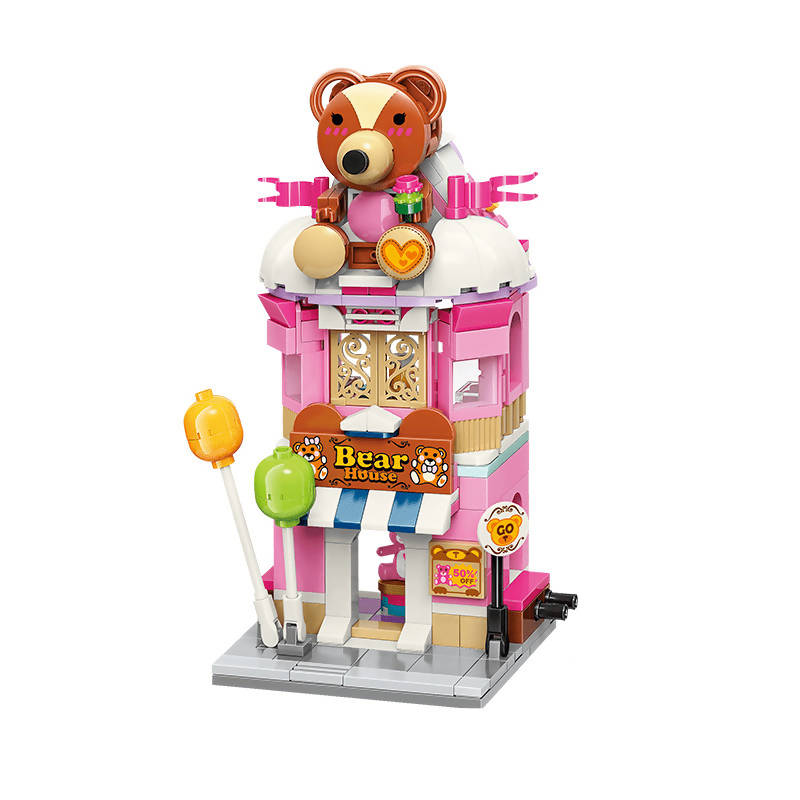 Teddy Theme Store Bricks Toy for Girls 6-12 and Up (281 Pieces)
