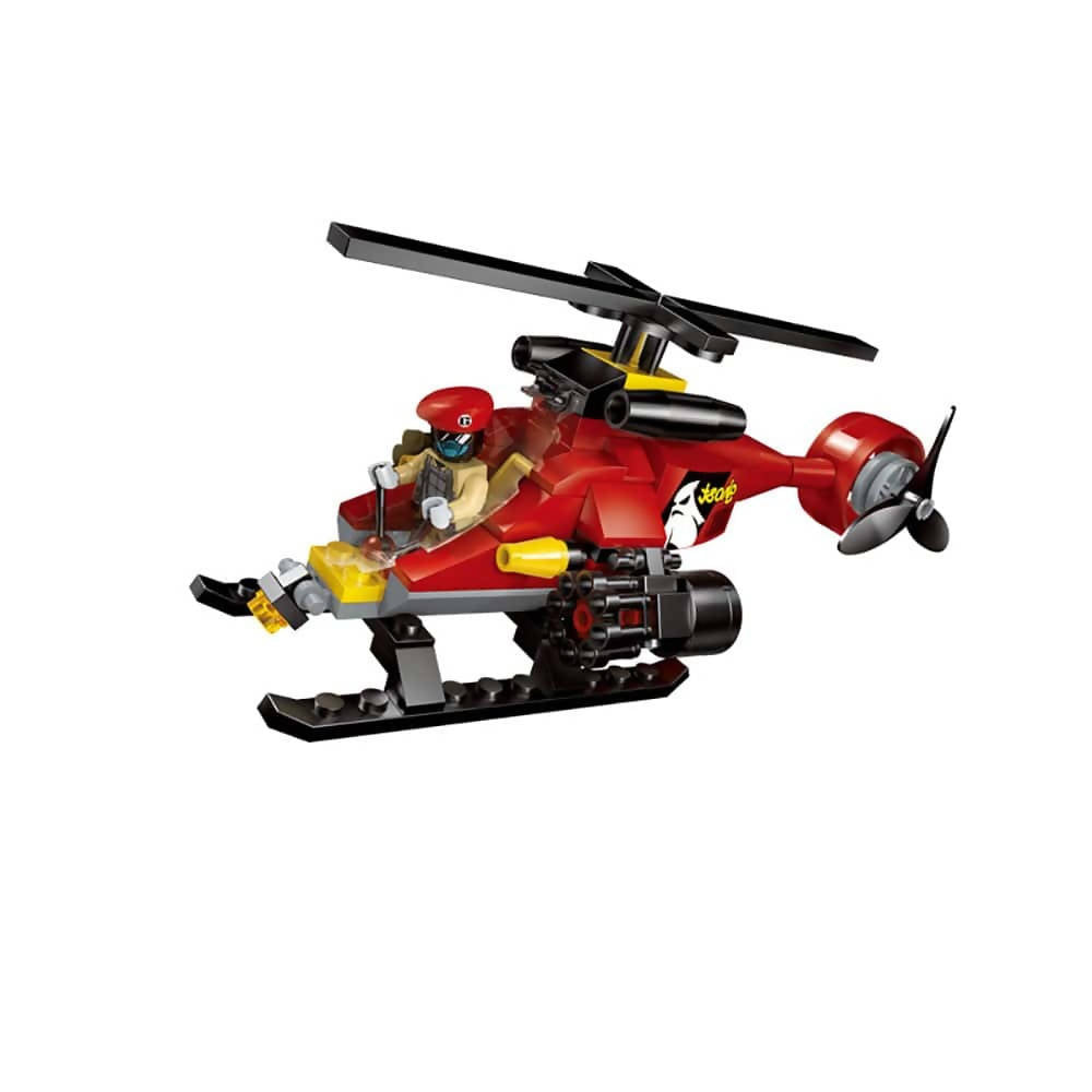 Battle Force Flying Squard Building Blocks for Kids 6 to 12 Years (111 pcs ) 1902 (Multicolor)