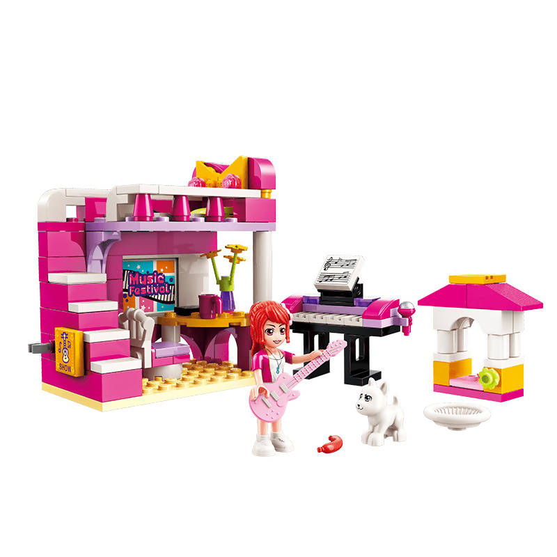 Cherry's Bedroom Building Set Toys for Girls 6+ (118 Pieces) (Multicolor)