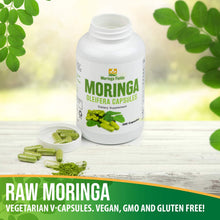 Load image into Gallery viewer, 300 Count Moringa Capsules Made With 100% Pure Certified Organic Moringa Powder - Moringa Fields LLC