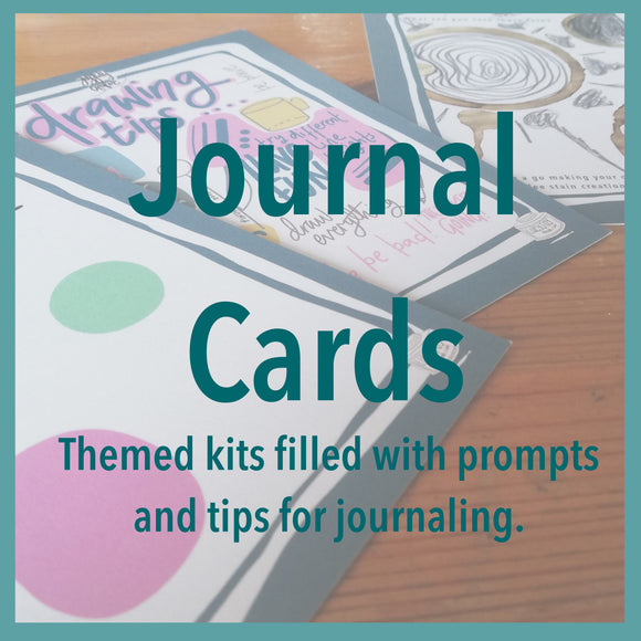 Journal cards filled with prompts and ideas to give you time for yourself