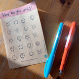 How are you, really? Sticker sheet for journals, paper stickers on kraft writable paper by Lucy Joy