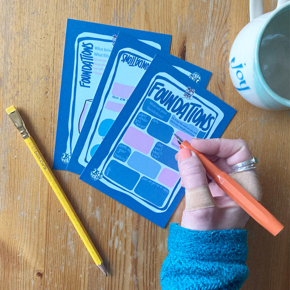 Foundations - journal prompt card  set
