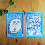 Self care single journal card by LucyJoy