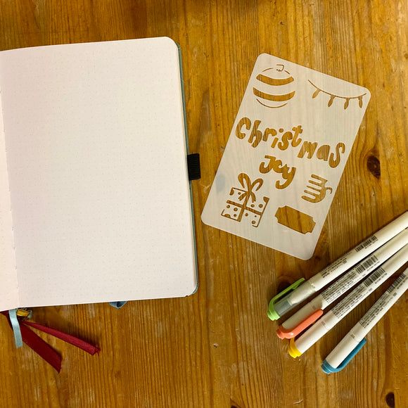 Christmas journaling stencil