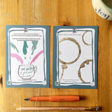 Joyfully creative journal cards by LucyJoy - learning your worth and valuing the experience