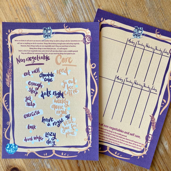 What is self care anyway - journal kit by Lucy Joy at the joy filled cup