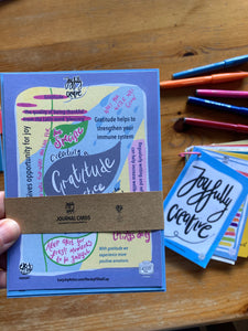 journaling with the joy filled cup by LucyJoy - gratitude journaling