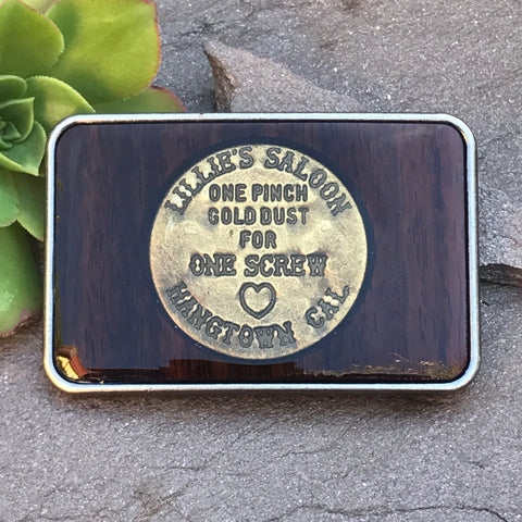 Lillie's Saloon Brothel Token Buckle