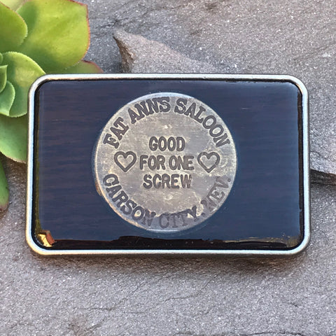 Fat Ann's Saloon Brothel Token Buckle