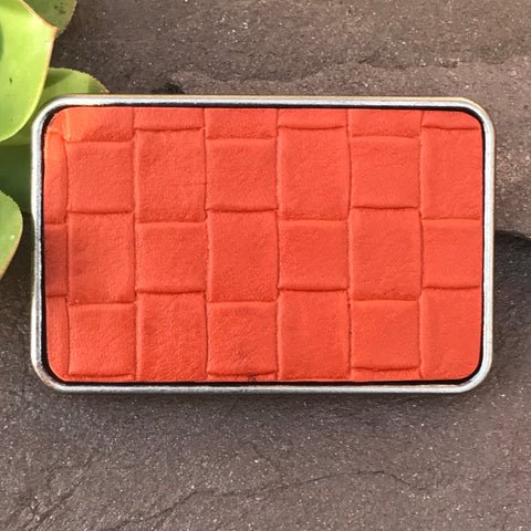 Orange basket weave