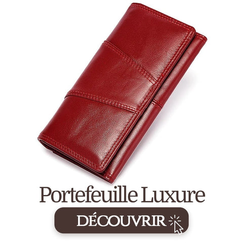 portefeuille rouge luxure
