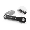 Keysmart Flex Black - Compact Multiple Key Holder Car Key Organizer