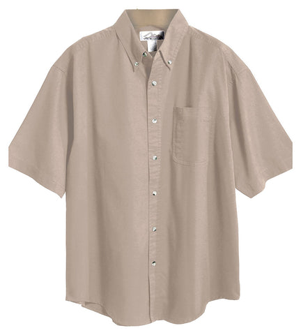 Tri-Mountain Men's Big And Tall Button Down Twill Shirt