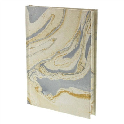 Marbleized Paper Journal - Blue
