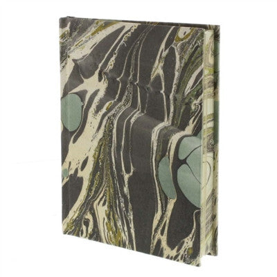 Marbleized Paper Journal - Aqua