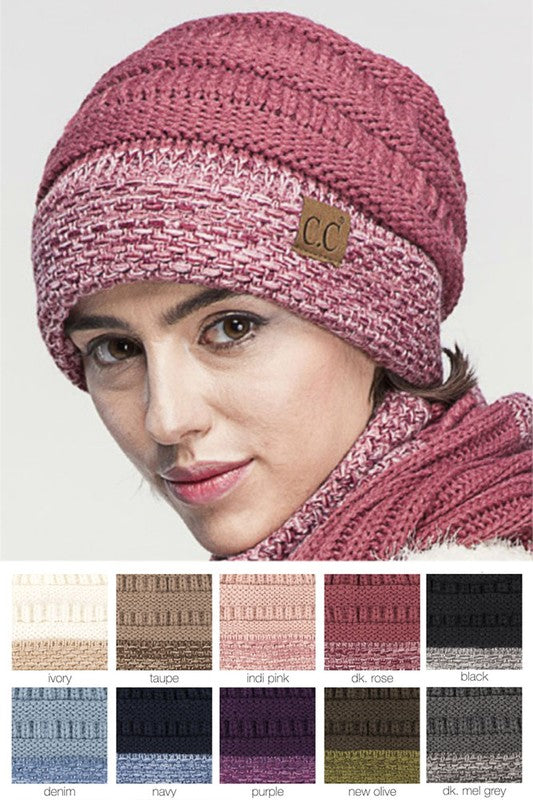 CC Knitted Beanie with Cuff