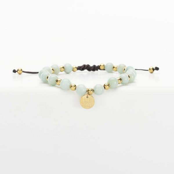 Belle Slider Amazonite - Gold