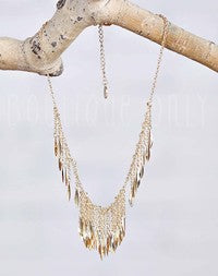 TMP Gold Fringe Necklace