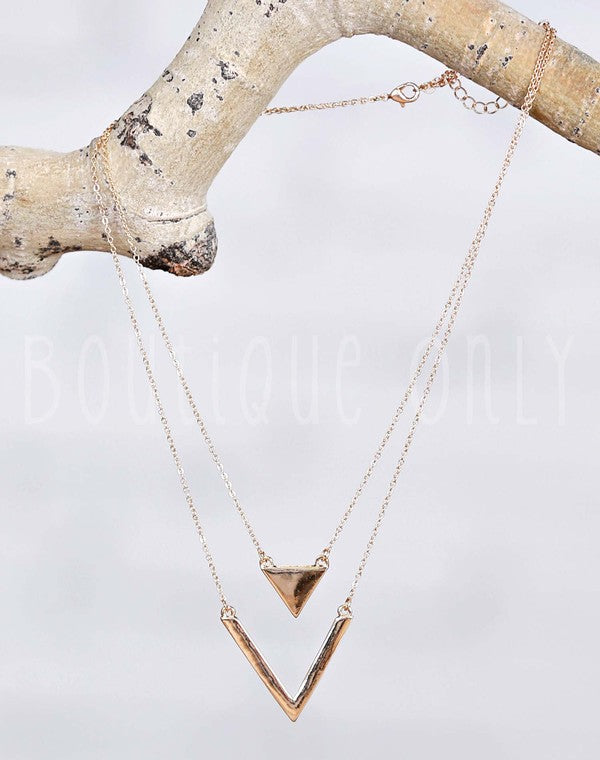 TMP Arrow and Triangle Necklace