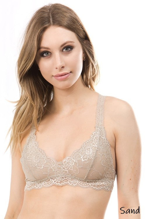 All Lace Racerback Bralette